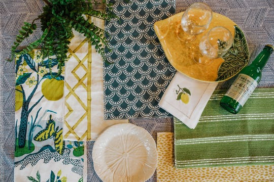 Searching for something bright and full of energy? Look no further than this patterned palette full of sunny yellows, fresh green and dreamy turquoise.