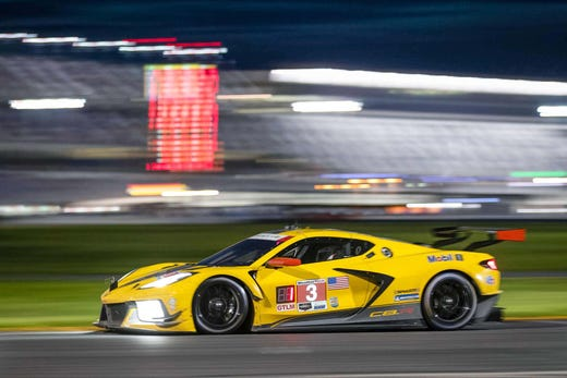The winner. The #3 Chevrolet Corvette C8.R driven by Antonio Garcia and Jordan Taylor took home the mid-engine 'Vette's first victory at Daytone July 4.