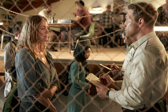 "Yvonne Strahovski and Jai Courtney in ""Stateless"" on Netflix."