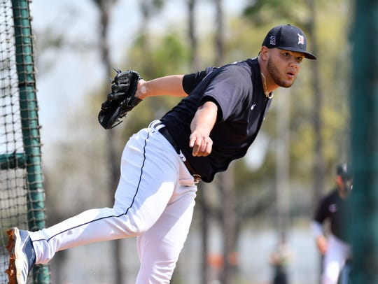 Pitching in near-empty minor-league parks will help Tigers closer Joe Jimenez prepare for the upcoming major-league season, he says.