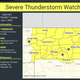 A severe thunderstorm watch is in effect until 9 p.m.