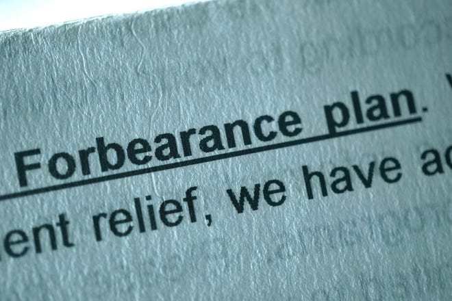 How does taking part in a forbearance program affect borrowers in the future?