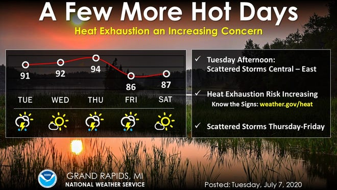 Highs will be in the lower 90s this week and Greater Lansing cooling centers are open to protect people from the heat.