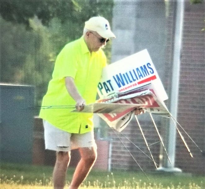 The Whittney Williams congressional campaign filed a police report saying it caught someone stealing campaign signs.