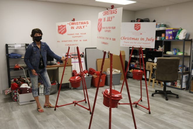 """Maureen Saponari, director of the Salvation Army-Port Clinton Service Uniit, is planning to host the organization's """"Christmas in July"""" red kettle campaign later this month on July 24-25."""
