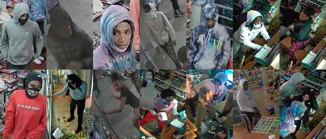 A composite image of suspects in the June 15 Speedway looting in St. Cloud
