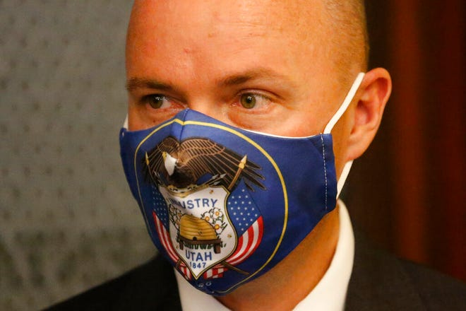 Utah Gov. Spencer Cox is feeling confident his mask will be a relic by July.