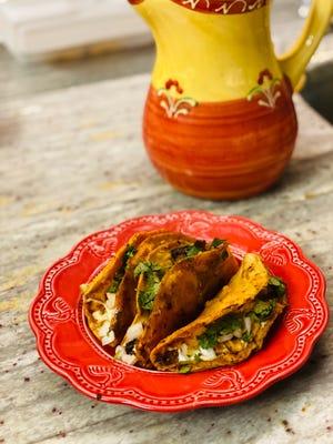 Tacos de Birria is a specialty item at La Tiendita.