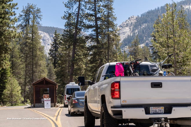 Sequoia and Kings Canyon National Parks opened camping in three areas Monday, July 6, 2020. Spaces in Lodgepole, Potwisha and Sunset campgrounds are limited and available by reservation only for the rest of this year. Visitors can pay entrance fees or purchase a pass online before arriving.