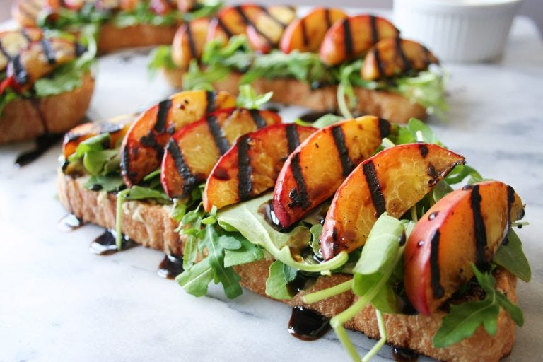 Make this grilled peach toast