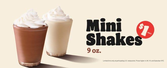 Burger King has $1 Mini Shakes.