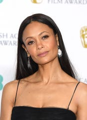 Thandie Newton poses in the press room during the EE British Academy Film Awards on February 10, 2019 in London.