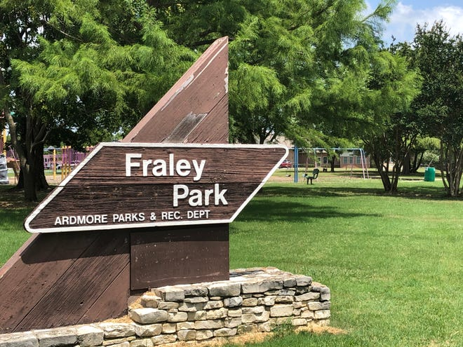 A woman reportedly drove through Fraley Park in Ardmore on Tuesday evening in an attempt to run over several children.