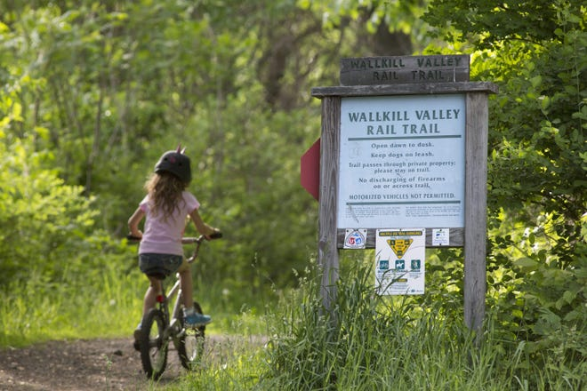 The plan for the Wallkill Valley Rail Trail includes resurfacing the trail path, repairing three small bridges, removing excess vegetation and invasive species to improve drainage, and improving road crossings and trail signage.
