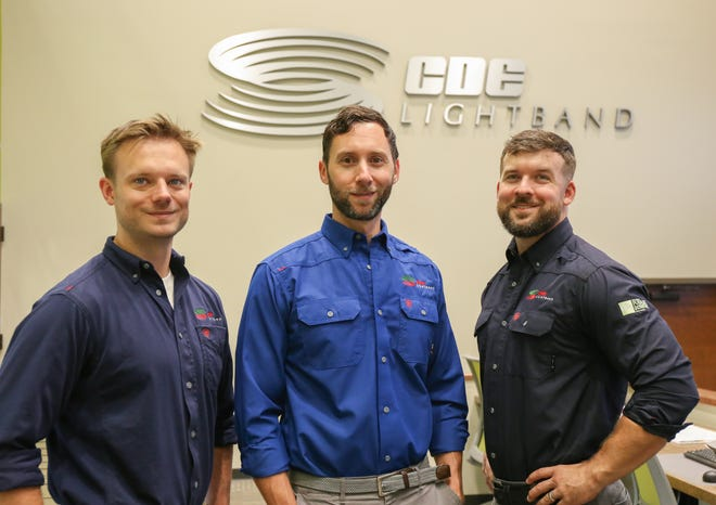 From left to right: Energy Services Specialist, Jared Combs, Energy Services Manager, John Jackson, and Energy Services Specialist, Rob Denson.