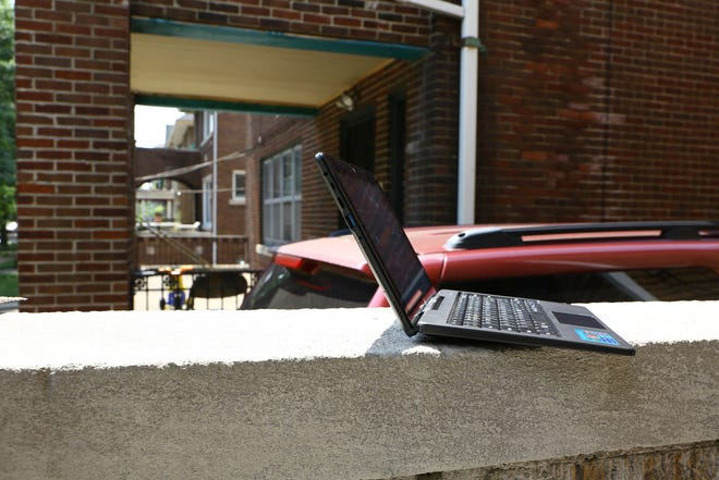 Detroit Public Schools Community District is equipping students with a tablet-style laptop from Detroit Connected Futures for online learning.