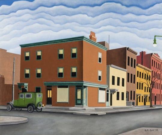 """Morning in Brooklyn,"" allegedly by artist George Ault, sold for $270,000. The FBI is investigating it as a fake."