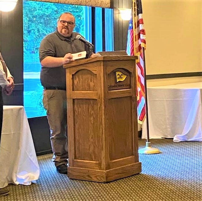 Devin Seslar was installed as the President of the Oak Harbor Rotary Club.