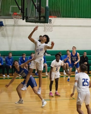 Paradise High School (Arizona) basketball player Jalen Scott jumps for a shot. Scott has verbally committed to join the Colorado State basketball team.