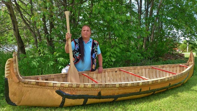 Wayne Valliere of the Lac du Flambeau Band of Lake Superior Chippewa builds birchbark canoes in the traditional way