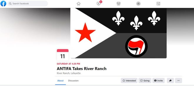 """A hoax """"ANTIFA Takes River Ranch"""" event created by a meme page has caught the attention of Lafayette city officials."""