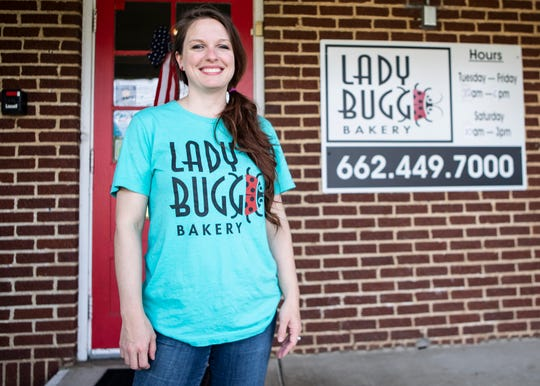 LadyBugg Bakery new owner Megan Cole in Hernando, Miss., on Wednesday, July 8, 2020.