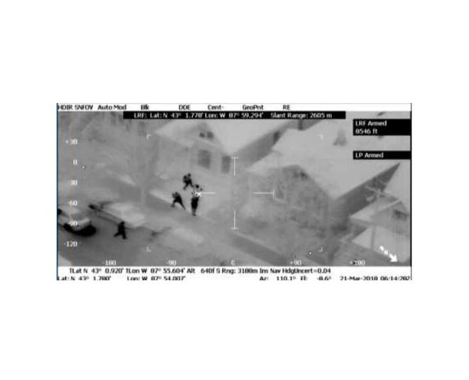 This still image is from West Allis Police aerial surveillance video of a 2018 arrest the subject says involved excessive force.