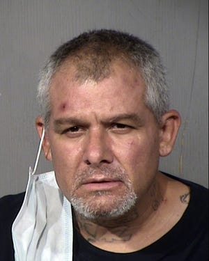 Eric Glass was arrested in connection with a man in a vehicle attempting to murder people at a residence in Mesa, April 16, 2020.
