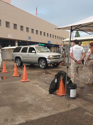 Sonora health officials, working with Mexican immigration officers, screened Mexico-bound visitors at border cities with Arizona, including Nogales, during the Fourth of July weekend to keep out nonessential travelers.