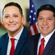 Republicans Tony Gonzales, left, and Raul Reyes  are in a runoff for Congressional District 23.