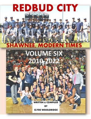 """This cover page headlines the final volume in the story of """"REDBUD CITY,"""" the six-volume history of Shawnee. That volume is due in 2022, covering the time from 2010 up to the present."""