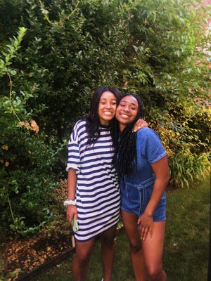 Destini Armstrong (left) and Megan Job (right) are the creators of the podcast BLCKGRLMGC.
