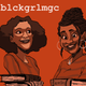 The podcast cover of blckgrlmgc, created by Middlebury students Destini Armstrong and Megan Job about their experiences as Black students at a primarily white college.