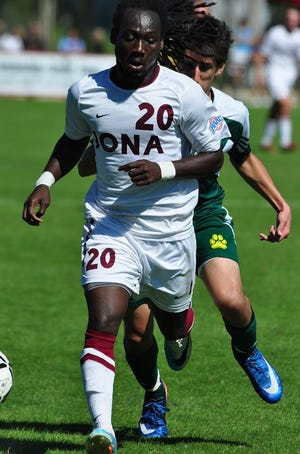 Former Willingboro High School standout Ansger Otto (20) scored 88 times for the Chimeras and added another 41 collegiate goals at Stevenson and then Iona University.