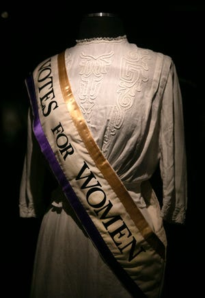 'An Unfinished Revolution: Women and the Vote' is a new special exhibit the will open July 17 at the Cincinnati Museum Center at Union Terminal. The museum has been closed since mid-March due to the new coronavirus pandemic. The exhibit commemorates the 100th anniversary of the ratification of the 19th Amendment, which gave women the right to vote. Photographed Thursday, July 9, 2020.
