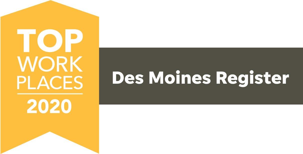 Top Workplaces 2020 Des Moines Logo