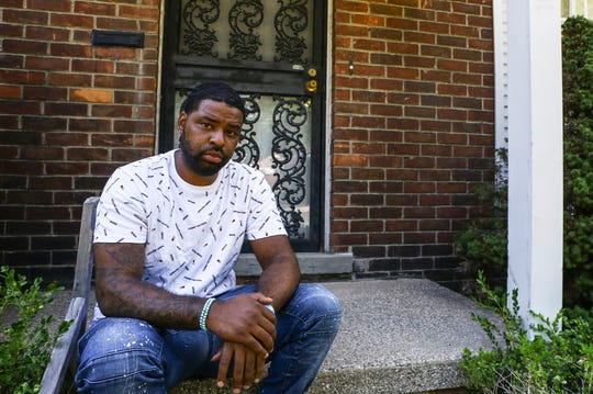 Keith Gambrell of Detroit seen here on the front porch of his home on Thursday, July 9, 2020.