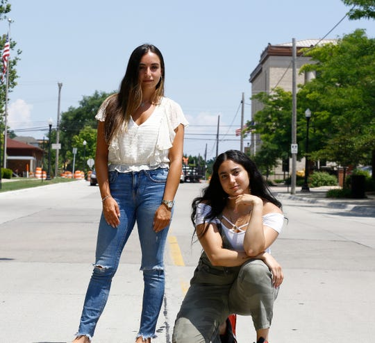 Yasmeen Kadouh, left, and Rima Fadlallah creators of Dearborn Girl podcast.
