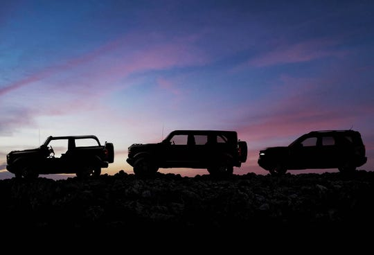 The 2021 Ford Bronco will debut Monday night after an absence of 24 years. It will come in two-door and four-door versions, as well as a smaller Bronco Sport version. The nameplate has long history at the Blue Oval.