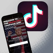 Thousands of users of the popular video app flocked to the Apple App Store in the last few days to flood U.S. President Donald Trump's 2020 campaign app with negative reviews.