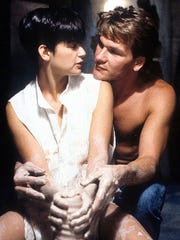 """Demi Moore and Patrick Swayze in the famous pottery scene in """"Ghost."""""""