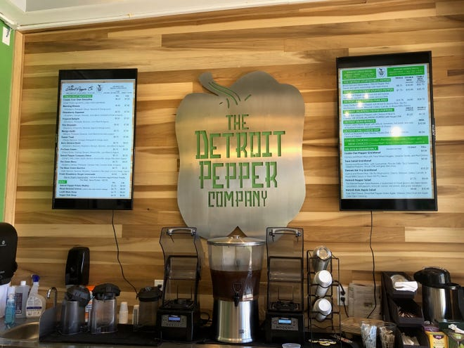 The Detroit Pepper Company's menu has stuffed peppers, salads, soups and smoothies.