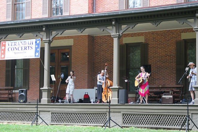 The Cottonwood Jam String Band performed the first Verandah Concert of the season on Wednesday, July 8, 2020, at the Hayes Presidential Library and Museums.