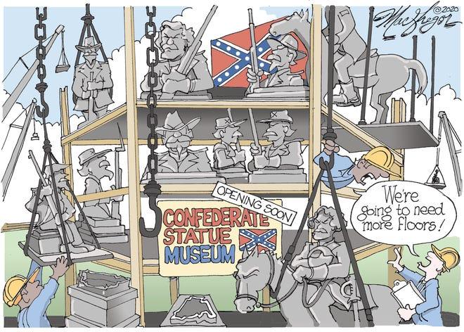 Confederate monuments.
