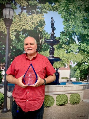 WSON News Director Bill (Stephens) Starks is the latest recipient of the Henderson Rotary Club's Hometown Hero award, given to a non-Rotarian for outstanding service and commitment to the community. It is one of several Rotary-related awards announced recently.