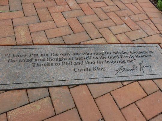 Dalam tanda kutipnya, Carole King berbicara tentang bermimpi sebagai seorang gadis yang menemani Everly Brothers dengan keharmonisan mereka.