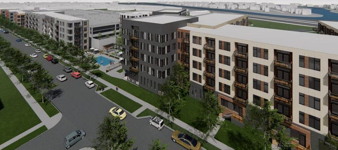 Four new apartment buildings totaling over 300 units are being proposed for Glendale's Bayshore development.
