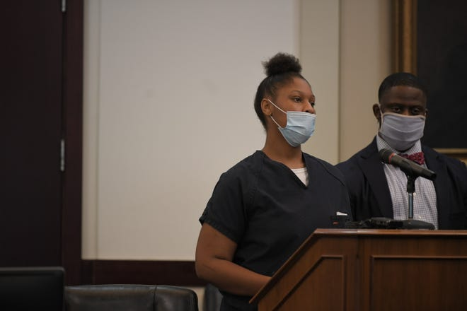 Jayona Brown appeared in court on Thursday, July 9, 2020, and plead guilty to four counts, including vehicular homicide, related to the crash that killed Metro Nashville Police Department Officer John Anderson in July 2019.
