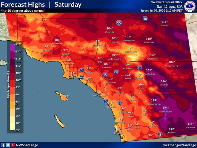 Desert temperatures will be well above normal this weekend.