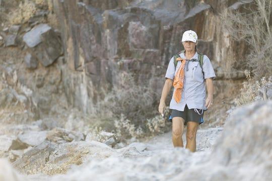 Shannon McCary hikes Piestewa Peak in Phoenix on June 30, 2020.